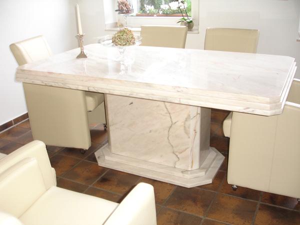 Inneneinrichtung natursteinbetrieb francisco in linnich for Esstisch rund marmor